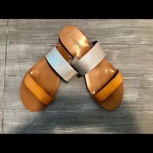 Brand New J Crew Sandals  Adorable Two Tone